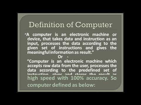 Defination of computer