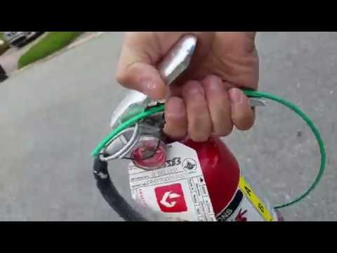 Trash found fire extinguisher  in Condo land!