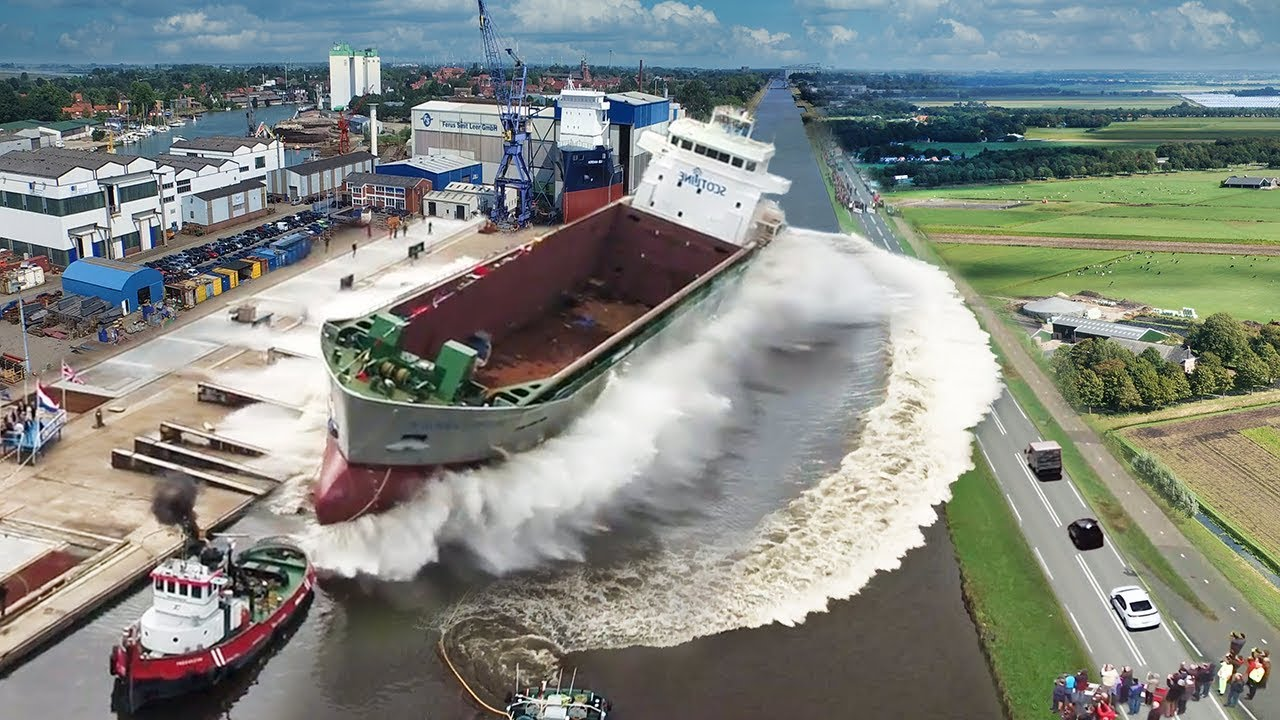 Ship Launch | 10 Awesome Waves, FAILS and CLOSE CALLS