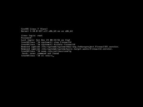 How to disable Firewall and SELinux in CentOS 7