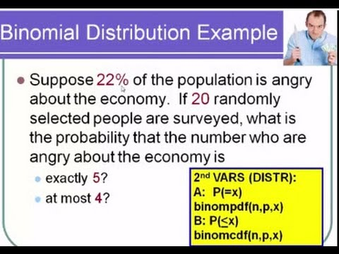Discrete Distributions, Expected Value and Binomial Probabilities