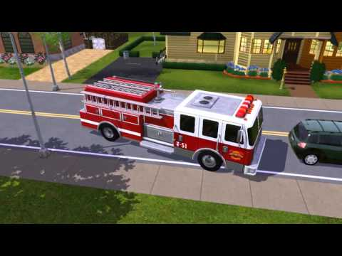 Sims 3 - Awesome Fire Truck