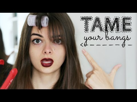 How To Tame Bangs | Styling Tips