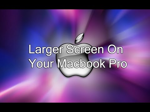 How to have a bigger screen with your macbook pro?