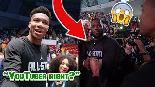 Giannis & Lebron James *RECOGNIZED* Me! KD TOLD ME TO UPLOAD!