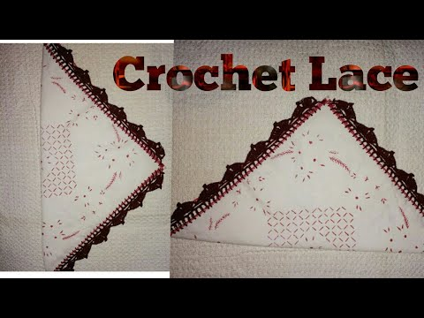 Crochet Dupatta Lace Patterns in hindi.How to make crochet lace