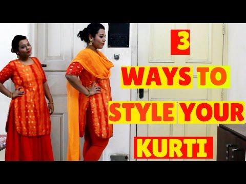 3 ways to style your kurti\ Plus Size Fashion\ Indian Fashion