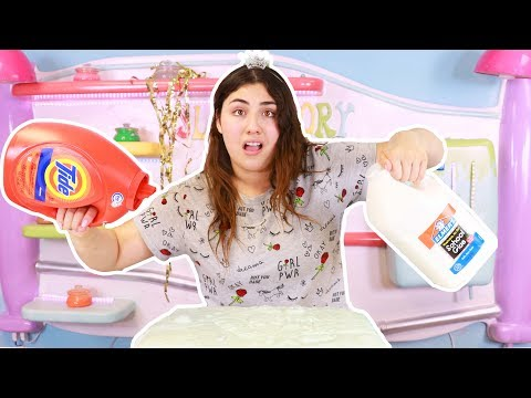 HOW MUCH SLIME CAN A BOTTLE OF TIDE MAKE ~ No borax slime!  Slimeatory #372