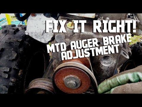 Snowblower Repair! MTD Snowblower Belt Cover and Auger Brake Fix