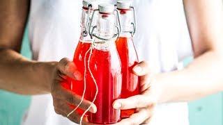 Selbstgemachter Erdbeeren-holunderblüten-sirup I Foodboom