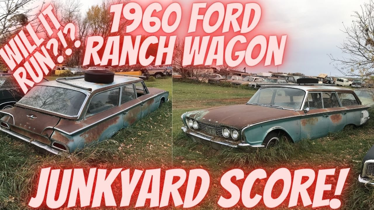 1960 Ford Ranch Wagon Sitting in a Junkyard for 39 years! Will it run?!? Last registered in 1982!