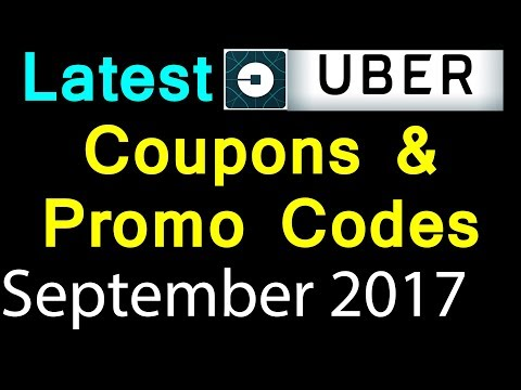 Latest Uber Coupons September 2017