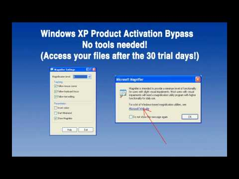 [2017] Bypass Windows XP Product Activation, no tools!