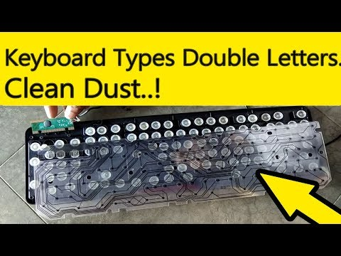 Keyboard Typing Double letters. How To Fix. Dust Problem. How to Clean.