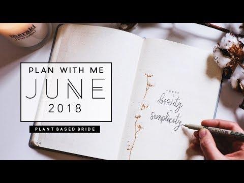 PLAN WITH ME | JUNE 2018 Bullet Journal Setup // PLANT BASED BRIDE