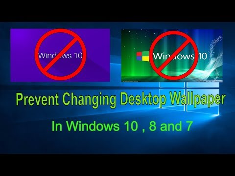How to Restrict Users From Changing the Desktop Background in Windows 10 8 7