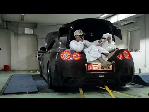 (Alpha Logic)  GTR-R35's 1276whp  and 1134whp (Indian) in Dubai