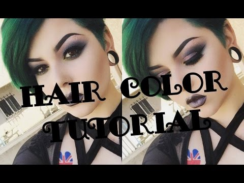 Forest Green Hair Color Tutorial
