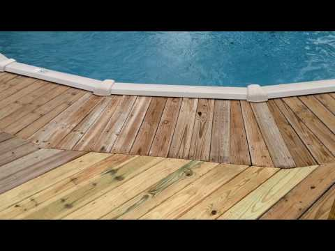 Build deck for above ground pool