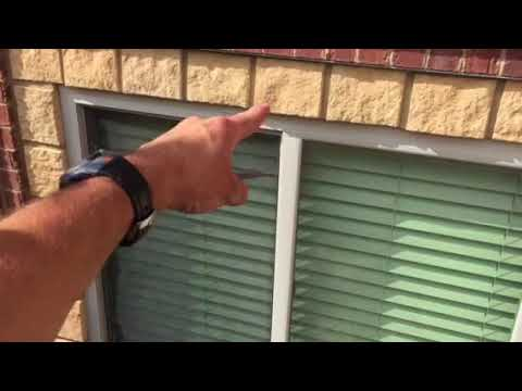 How to remove a window screen from the outside.