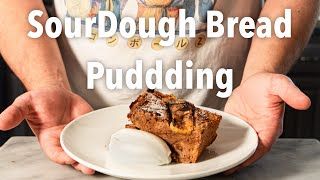 Banana Sour Dough Bread Pudding