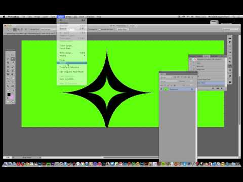 How to replace a solid color background with transparency tutorial