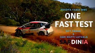 TEST TOYOTA YARIS WRC - SARDINIA 2018 - OTT TANAK and JM LATVALA