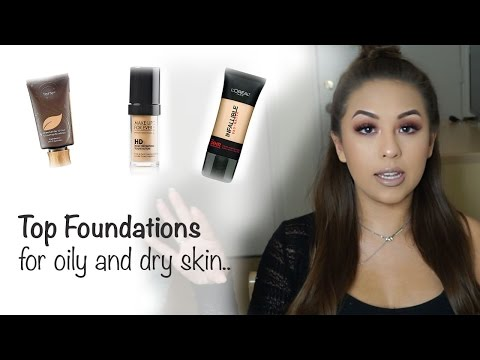 BEST Foundations for Oily and Dry Skin | Drugstore and High-End