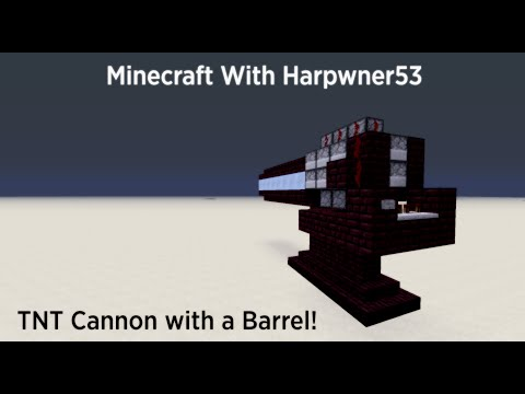 Minecraft TNT Cannon with a Barrel! (Tutorial)