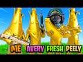 Full Gold Peely Squad In Fortnite!