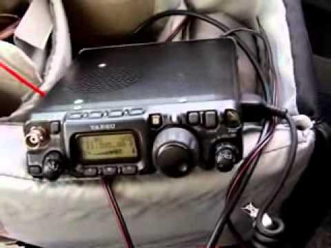 QRP Mobile DX qso 8200km with 5W SQ7MZF K4FL FT-817 YAESU