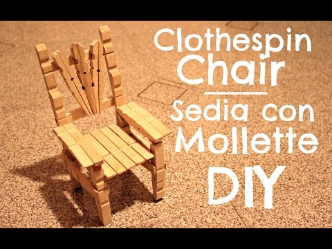 Clothespin Chair | Sedia con le mollette