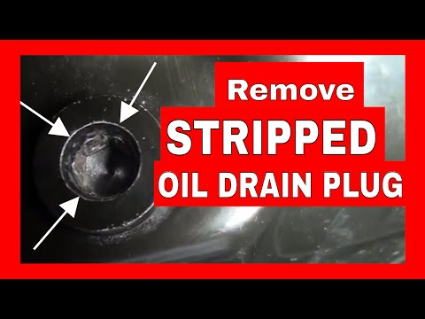 How To Remove a Stripped or Rounded Oil Drain Plug  ----- Allen Key or Hex