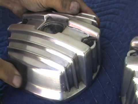 Motorcycle aluminum polishing