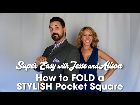 How To Fold A Stylish Pocket Square - The Wave Fold