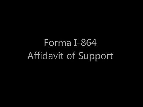 Como llenar la Forma I-864 Affidavit of Support