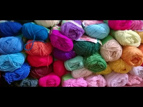 (malayalam crochet) My first yarn haul from India and unboxing - 2017