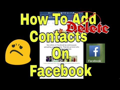 How To remove  Contacts From Facebook ?? On Android.