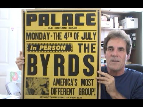 The Byrds Concert Poster 1966 Jumbo Cardboard – Tickets Just $2.00