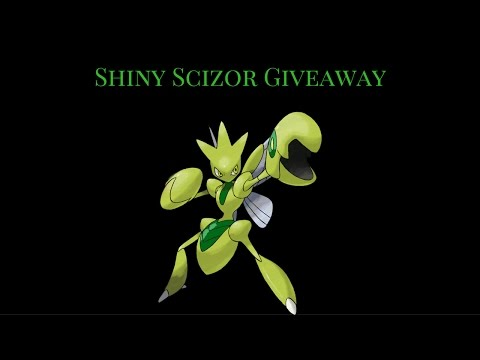 Shiny Scizor Giveaway (CLOSED) only 117. Shiny pokemon giveaway.