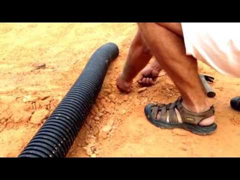 BackYard RC Track Build DIY #7 HOW TO MAKE LANES WITH DRAIN PIPE DIY