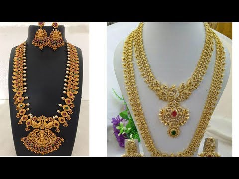 Latest One Gram Gold Long Haram Designs With Price - She Fashion