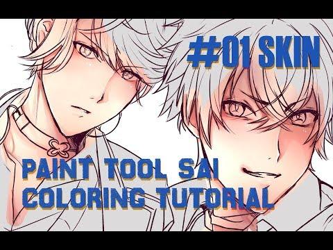 Paint Tool SAI Coloring Tutorial #01 SKIN