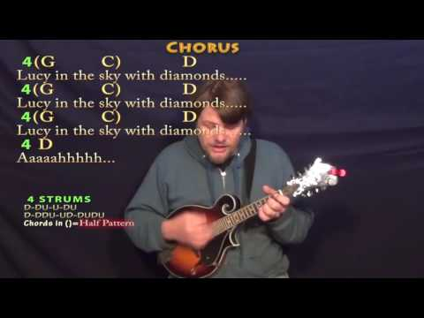 Lucy In the Sky With Diamonds (The Beatles) Mandolin Cover Lesson with Chords/Lyrics