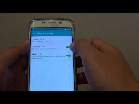 Samsung Galaxy S6 Edge: How to Enable / Disable Auto Update of Software