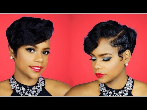 How I Style My Layered Pixie Cut w/Waves at Home | Relaxed Short Hair | Hair Tutorial | Leann DuBois