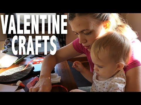 Valentine's Day Crafts with a Toddler
