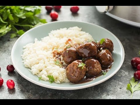 Slow Cooker Cranberry Meatballs Recipe Video