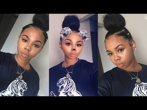 EASY TOP KNOT BUN TUTORIAL | Natural Hair | CrySTYLE Beauty