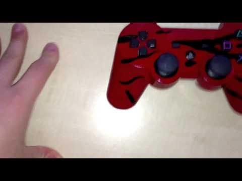 Custom Red Tiger Stripe Camo Controller - By AlienufoDesign
